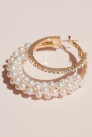 Crystal and Pearl Multi-Hoop Earnings