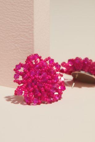 Beaded Cluster Stud Earrings
