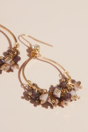 Shaky Beaded Hoop Earrings