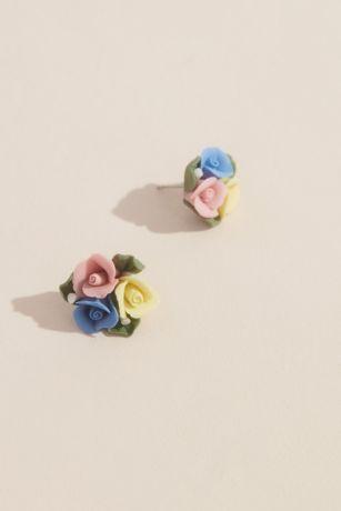 Rose Trio Stud Earrings