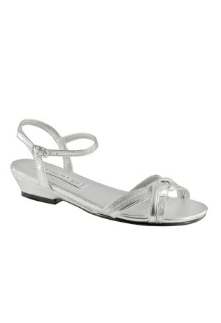Touch Ups Grey Flowergirl Shoes (Melanie Jr. Girls Sandal by Touch Ups)