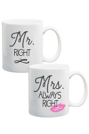 Mr. and Mrs. Right Mug Set