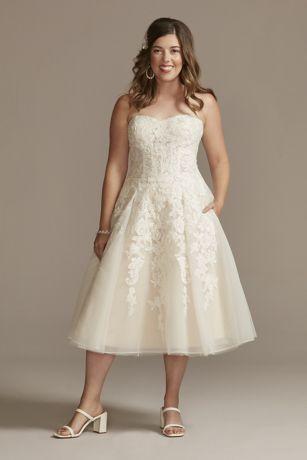 Midi Ballgown Strapless Dress - David's Bridal