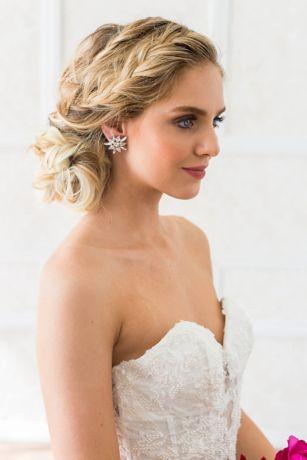 Swarovski Crystal and Sterling Burst Earrings