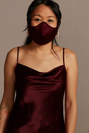 Satin Adjustable Loop Fashion Face Mask