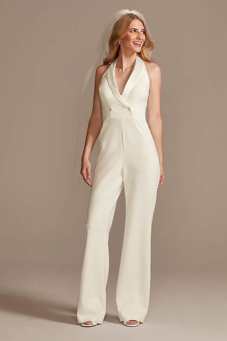 Wedding Jumpsuits, Pantsuits & Rompers   David's Bridal
