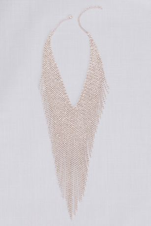 Fringed Crystal Statement Necklace
