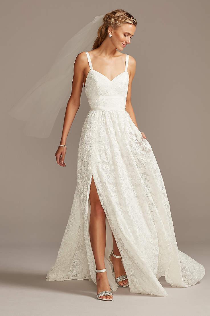 White A Line Wedding Dresses Gowns David S Bridal