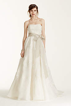 Melissa Sweet Satin Organza and Lace Wedding Dress