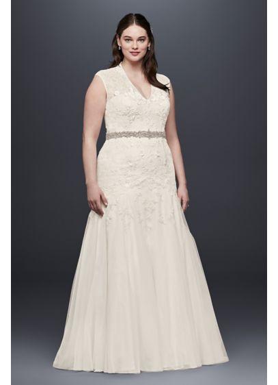 Melissa Sweet Corded Lace Plus Size Wedding Dress | David\'s Bridal
