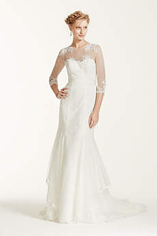 Melissa Sweet Wedding Dress with Illusion Sleeves