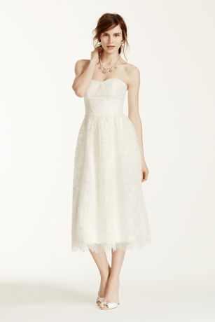 Short A-Line Strapless Dress - Melissa Sweet