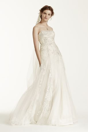 As-Is Tulle Wedding Dress with 3D Flowers