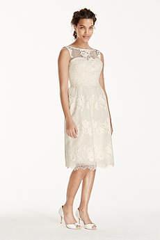 Short A-Line Beach Wedding Dress - Melissa Sweet