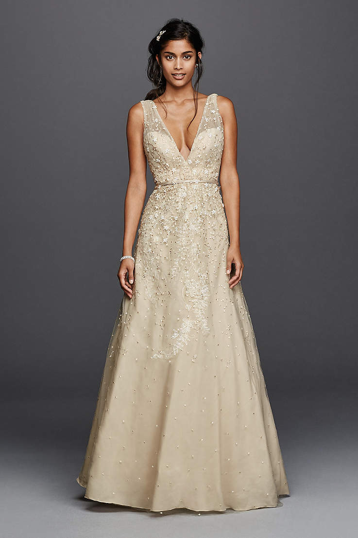 Champagne Colored Wedding Dresses Gowns David S Bridal,Purple Fall Wedding Guest Dresses