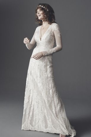 As-Is Linear Lace Wedding Dress