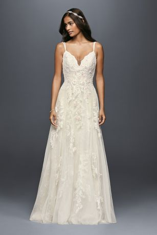 As-Is A-Line Wedding Dress with Double Straps