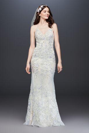 As Is Beaded Lace Sheath Wedding Dress