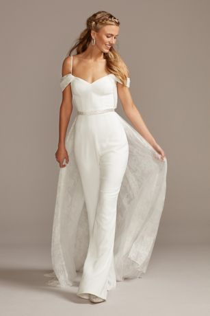 Long Jumpsuit Wedding Dress - Melissa Sweet