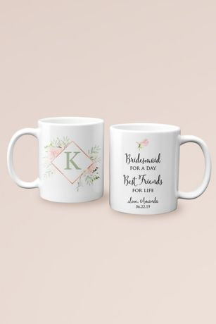 Personalized Friends for Life Bridesmaid Mug