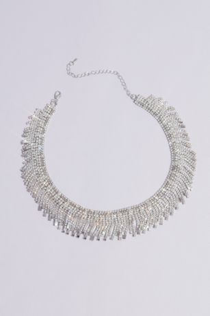 Fringed Crystal Collar Necklace