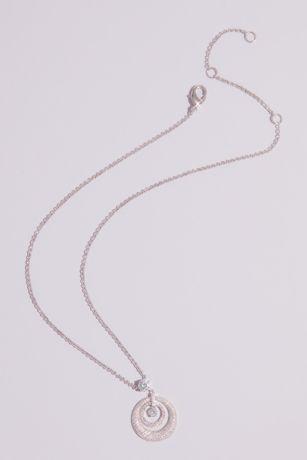 Domed Swarovski Crystal Pave Pendant Necklace
