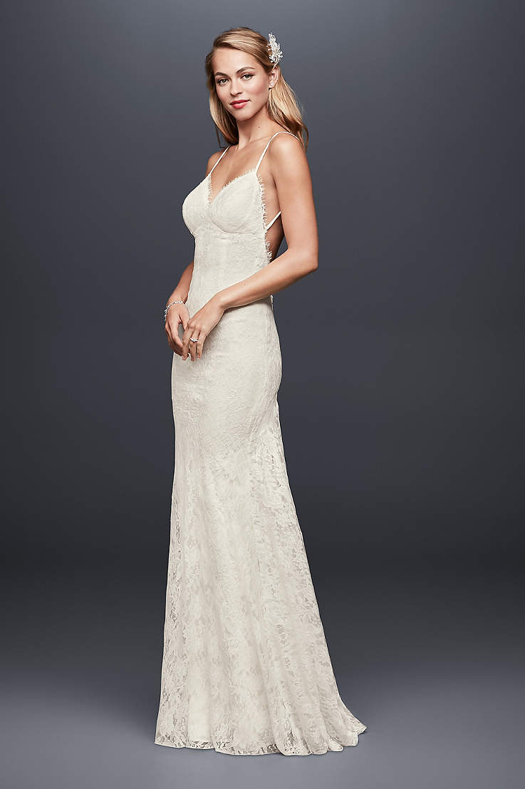 15bd34d58d4 Long Sheath Wedding Dress - Galina