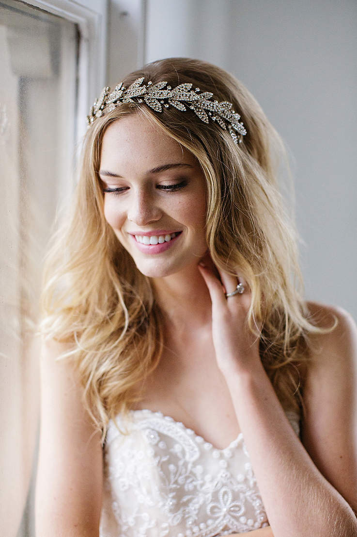 Crystal-Encrusted Laurel Leaf Halo Headband 1e83449fd2f4