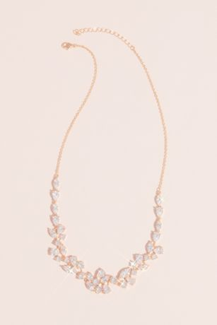 Marquise Pear and Circle Crystal Necklace