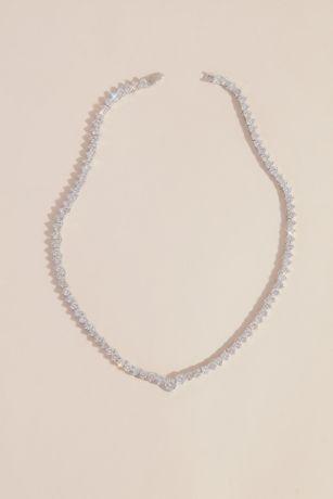 Cubic Zirconia Solitaire Choker Necklace