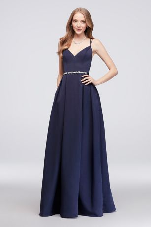 76b20675c82 Structured Oleg Cassini Long Bridesmaid Dress