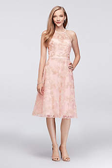 Soft & Flowy Oleg Cassini Short Bridesmaid Dress