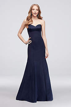 Long Mermaid/ Trumpet Strapless Prom Dress - Oleg Cassini