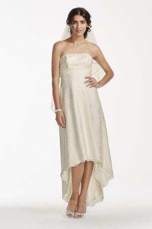 Short Sheath Wedding Dress - David's Bridal Collection
