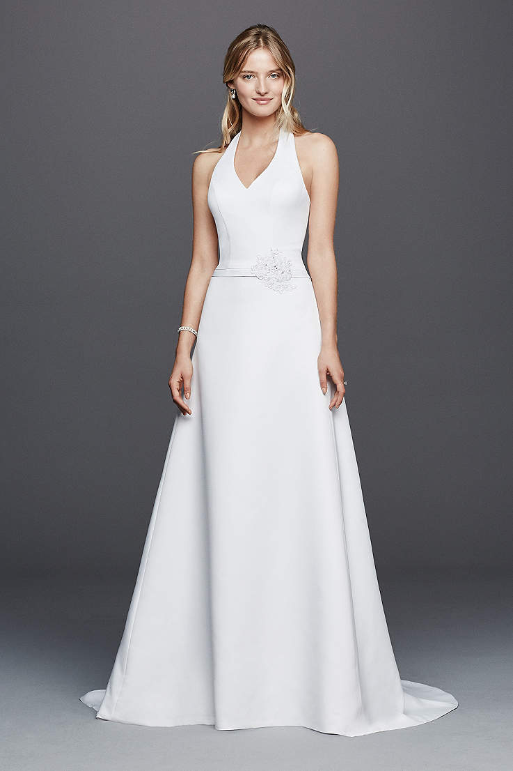 Long A Line Wedding Dress David S Bridal Collection