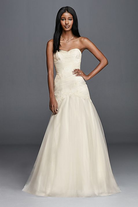 Trumpet Wedding Dress With Lace Appliques
