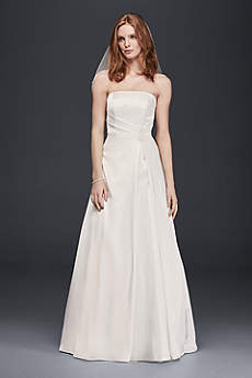As-Is Satin Beaded Waist A-Line Wedding Dress