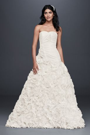 Rosette Skirt Wedding Dress