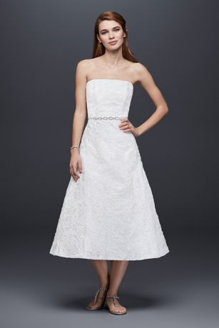 Soutache Lace Tea-Length Wedding Dress