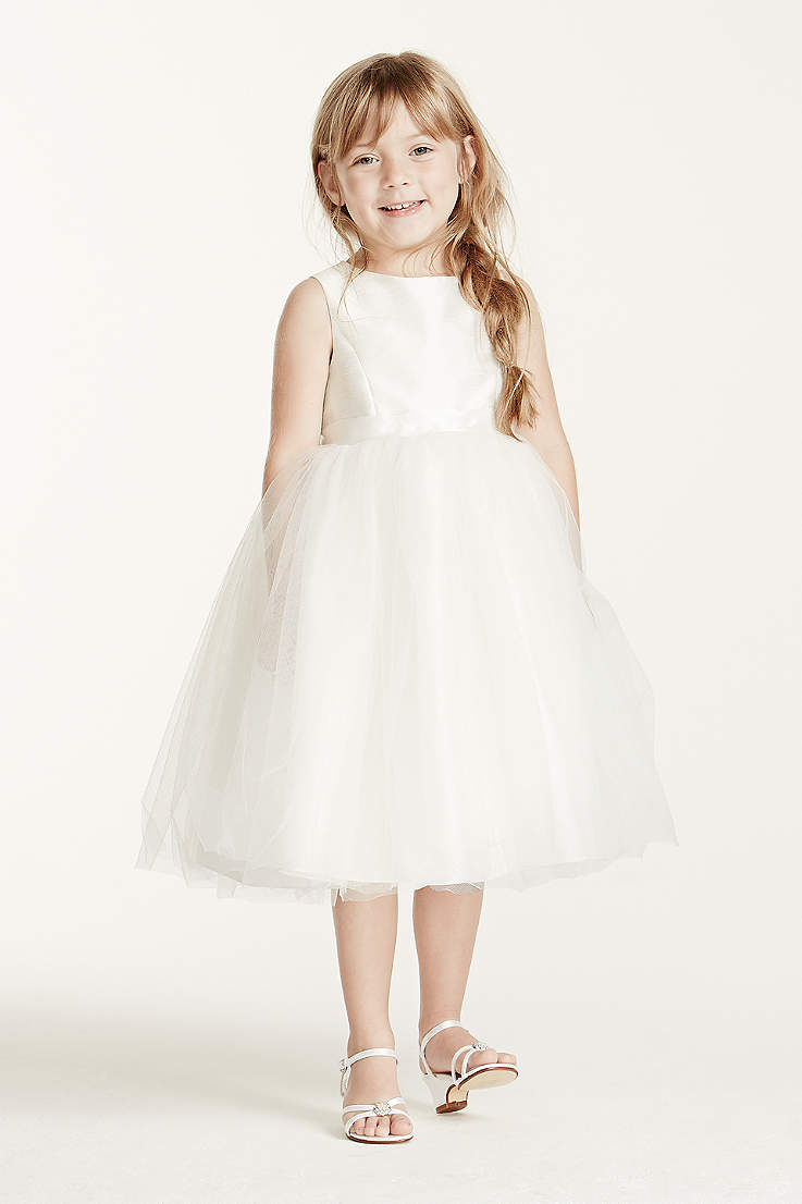 Flower girl dresses in various colors styles davids bridal short ballgown tank communion dress davids bridal izmirmasajfo