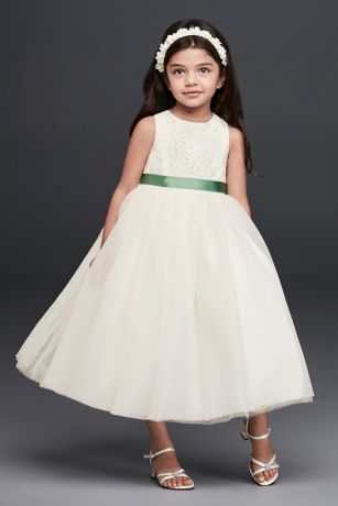 e9c0a292cae Short Ballgown Tank Dress - David s Bridal · David s Bridal. Lace and Mesh  Tank Flower Girl Dress