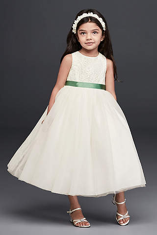 Flower girl dresses in various colors styles davids bridal short ballgown tank communion dress davids bridal mightylinksfo