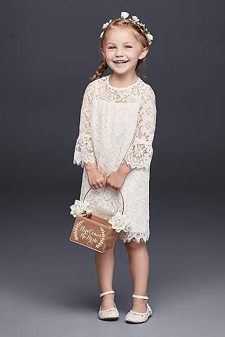 Flower girl dresses in various colors styles davids bridal short sheath long sleeves dress davids bridal mightylinksfo