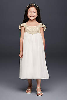Long Sheath Cap Sleeves Dress - David's Bridal