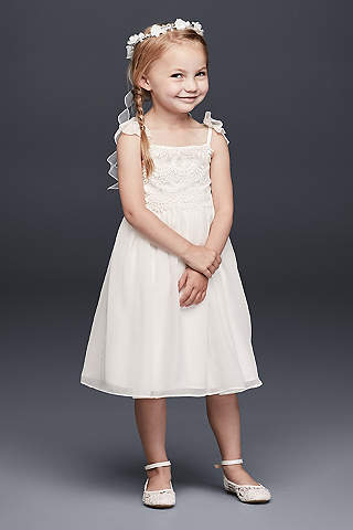 Flower girl dresses in various colors styles davids bridal short sheath spaghetti strap dress davids bridal mightylinksfo