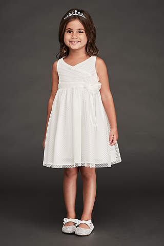Flower girl dresses in various colors styles davids bridal short a line tank dress mightylinksfo