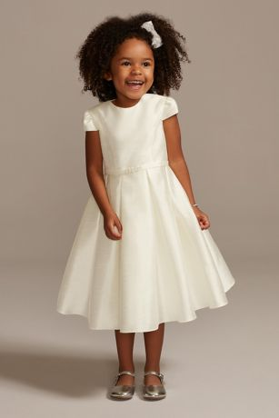 Tea Length Ballgown Cap Sleeves Dress - David's Bridal