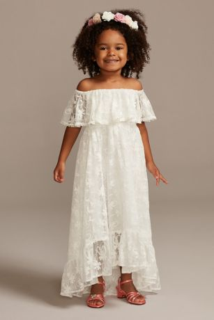 High Low Sheath Off the Shoulder Dress - David's Bridal