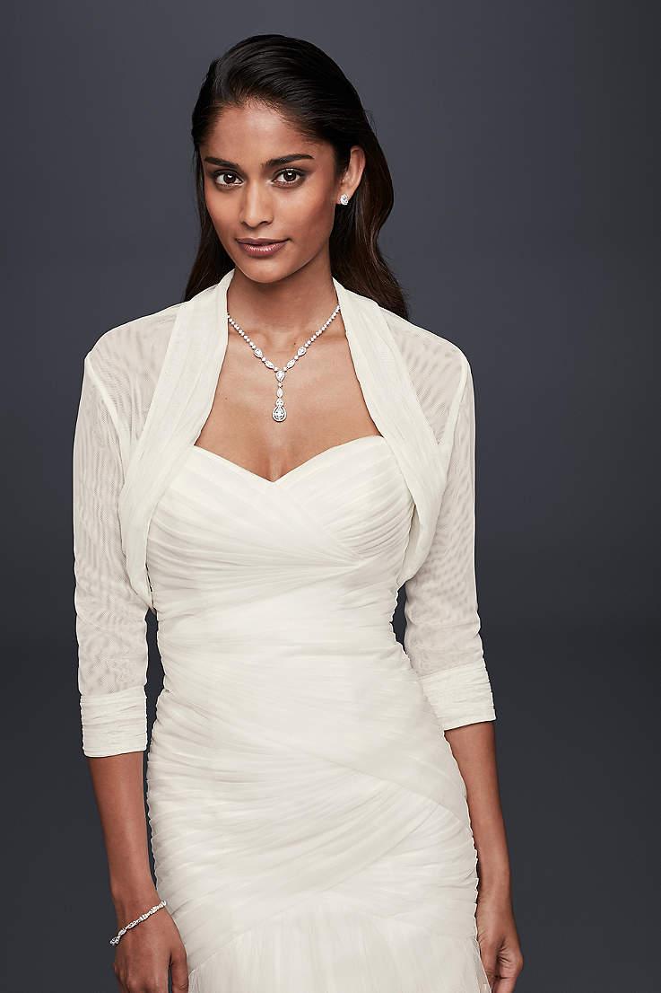 419a750bd6f49 Ivory Wedding Jackets & Wraps   David's Bridal