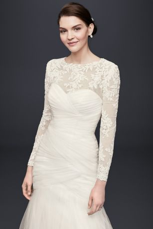 Embroidered Lace Long-Sleeve Dress Topper